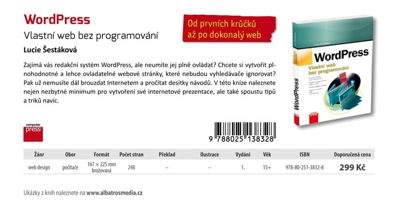Nová kniha oredakčním systému WordPress