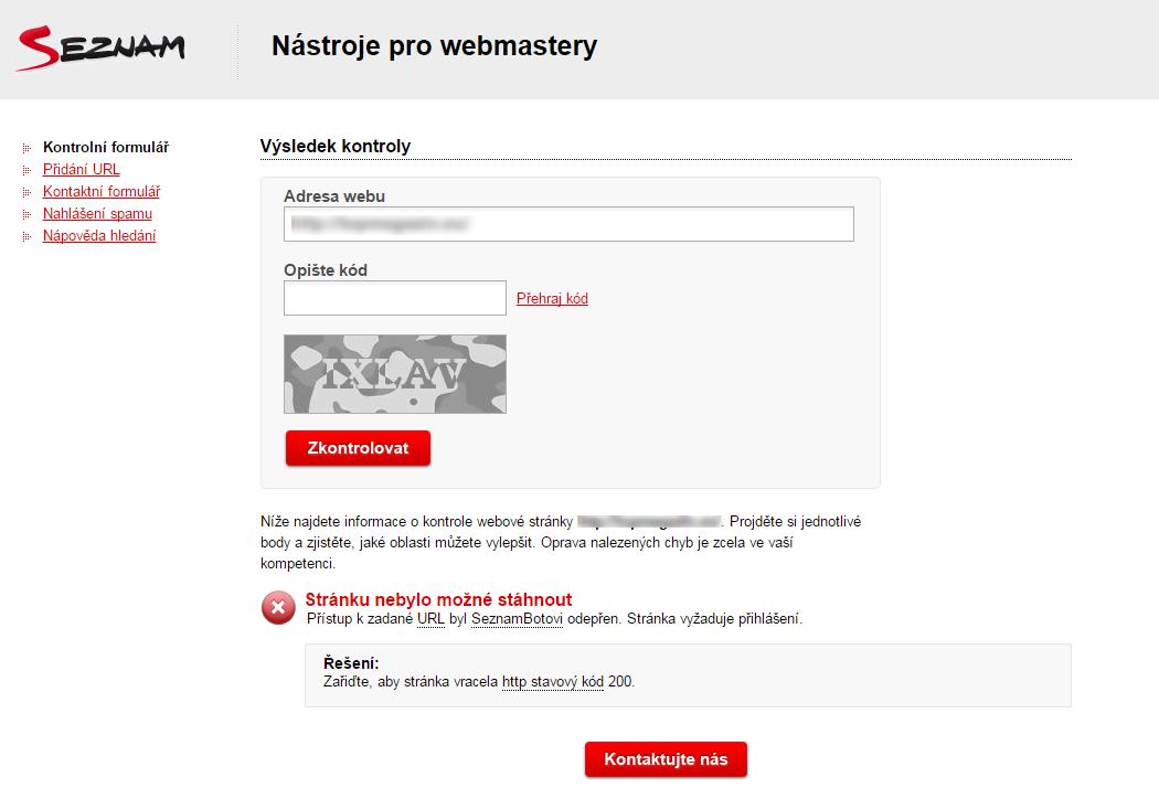 Seznam přestal web indexovat. Co stím?