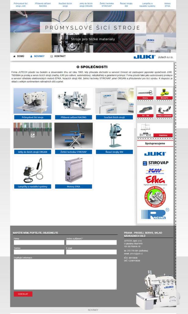 Tvorba katalogu pro Juki.cz - průmyslové šicí stroje